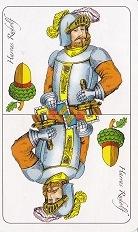 az egyik figura vagy számozott lap kérő lap a makk alsó