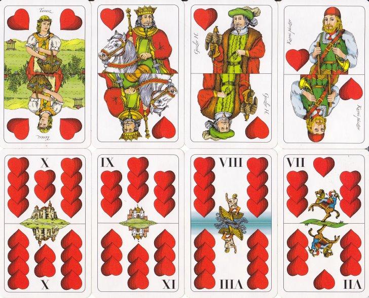 Nyolc piros színű lap