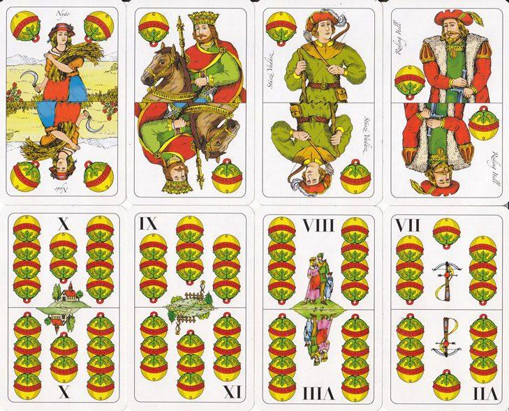 ász, király, felső, alsó, X, IX, VIII, VII