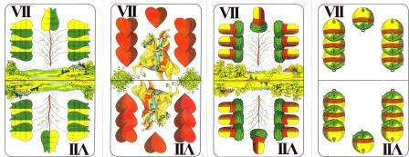 Egyszerű kártyajátékok: A négy hetes lap, a zsírozás játékban kiemelt szerepük van